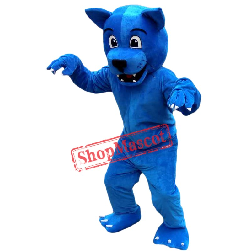 Hot Sale Blue Leopard Mascot Costume Adult Size Halloween Costume