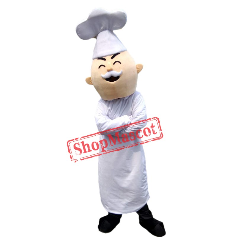 High Quality Professional New Baker Cook Chef Mascot Costume Fancy Dress Adult Size