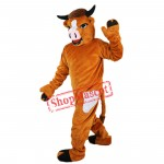 Custom Brwon Cattle Mascot Costume Adult Size Cattle Costume