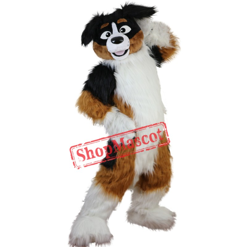 fe5e18516e3 Hot Sale Furry Dog Husky Mascot Costume Adult Size Halloween Outfit Fancy  Dress Suit Free Shipping