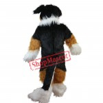 Hot Sale Furry Dog Husky Mascot Costume Adult Size Halloween Outfit Fancy Dress Suit Free Shipping