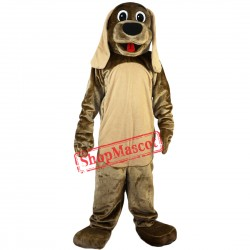 Deluxe Brown Dog Mascot Costume Halloween Mascot Costume