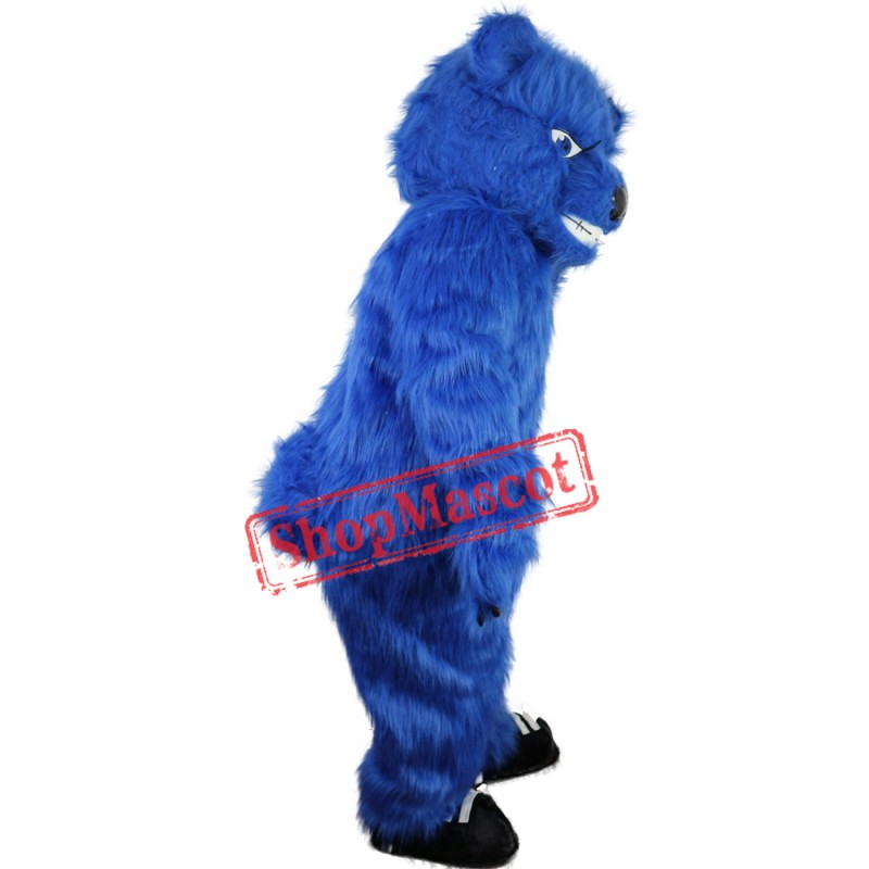 Blue Furry Bear Mascot Costume Fur Bear Costume Adult Size