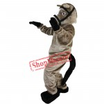 Professional Cartoon Grey Horse Mascot Costume Fancy Dress Adult Size