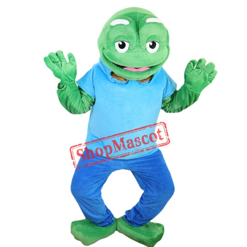 Adult Size Big Green Frog Mascot Costume Character Party Carnival Mascotte Mascotta
