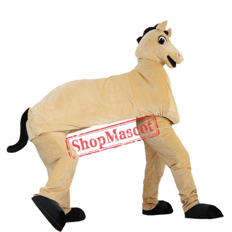 Two Man Hourse Mascot Costume Adult Size Halloween Outfit Fancy Dress Suit Free Shipping