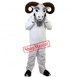 White Funny Ram Mascot Costume Adult Size Halloween
