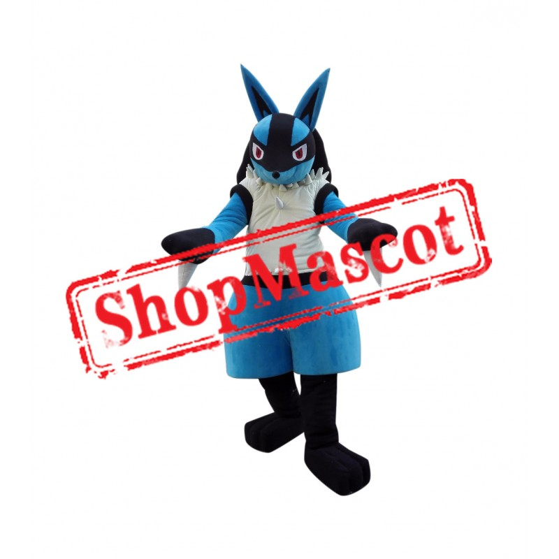 Pokemon Pok Lucario Mascot Cartoon Costume