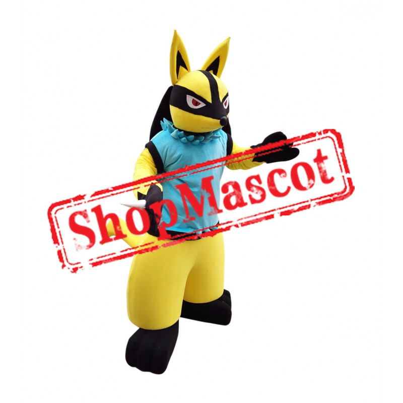 Golden Lucario Mascot Costume