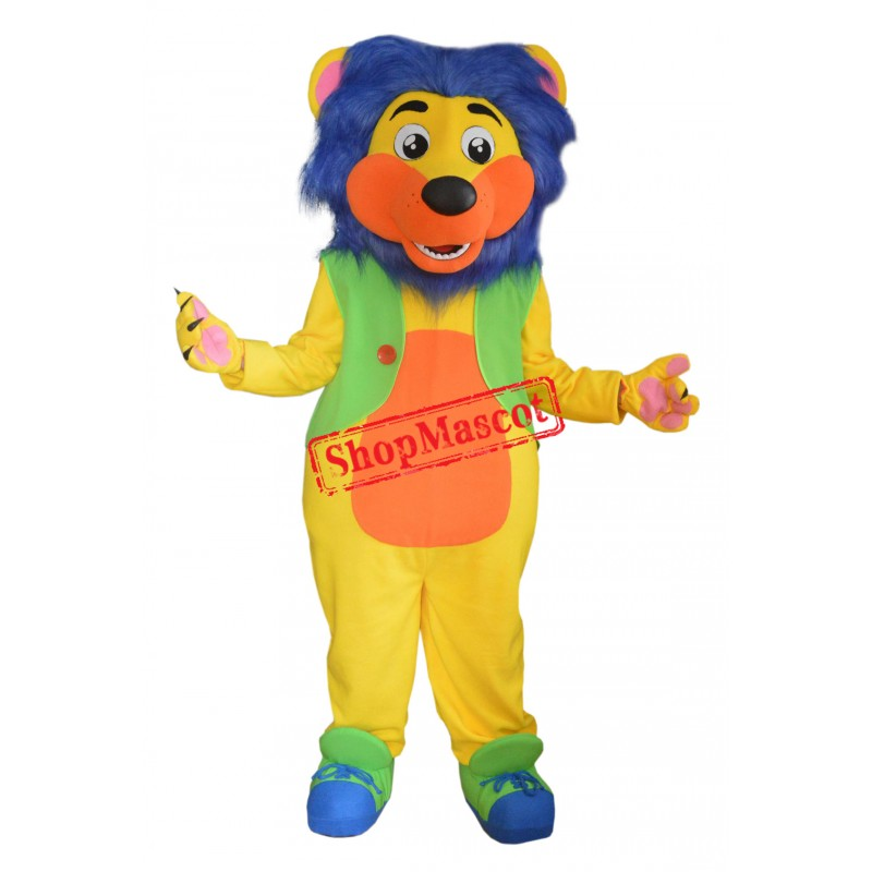 Colorful Lion Mascot Costume