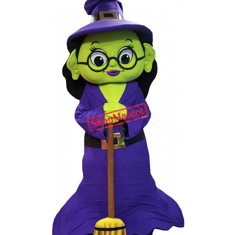 Halloween Witch Mascot Costume