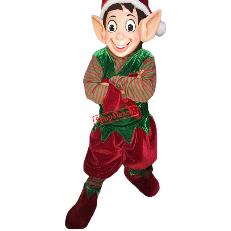 Superb Christmas Elf Mascot Costume