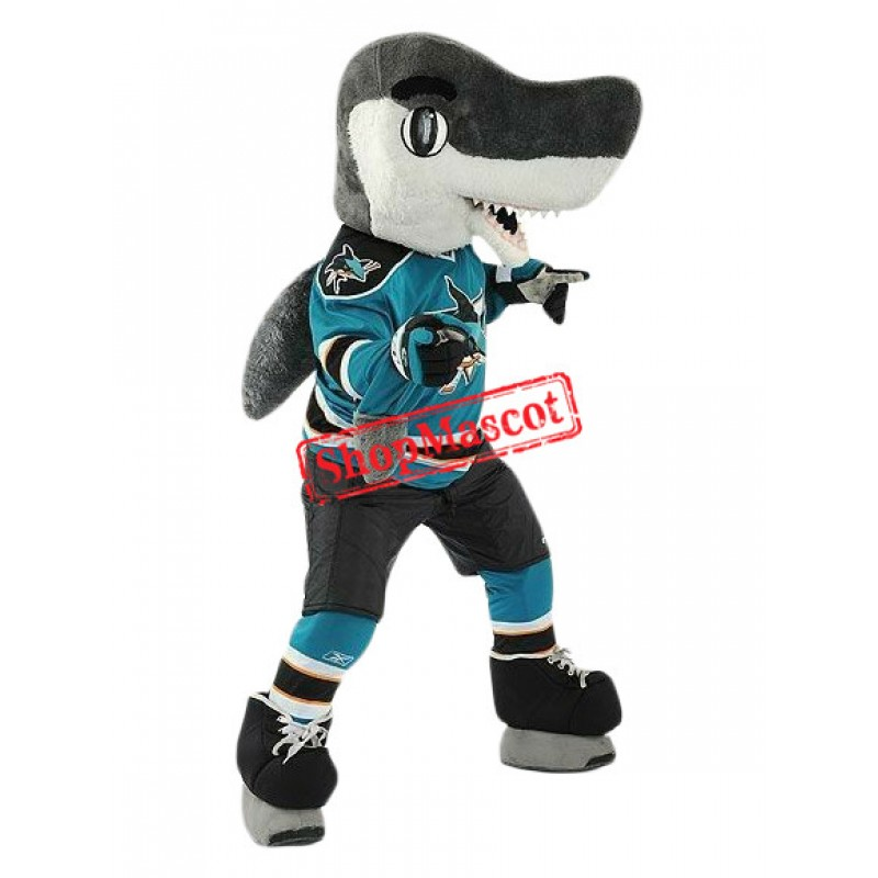 Superb Sport Shark Mascot Costume