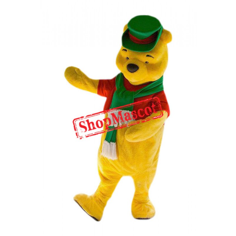 Superb Christmas Winnie The Pooh Mascot Costume