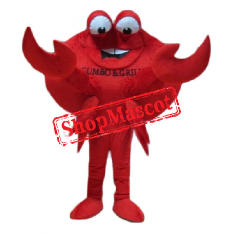 Big Red Crab Mascot Costume