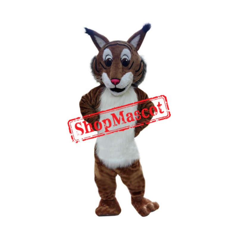 Superb Friendly Bobcat Mascot Costume