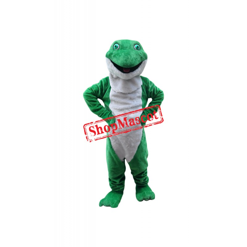 Friendly Lightweight Green Frog Mascot Costume
