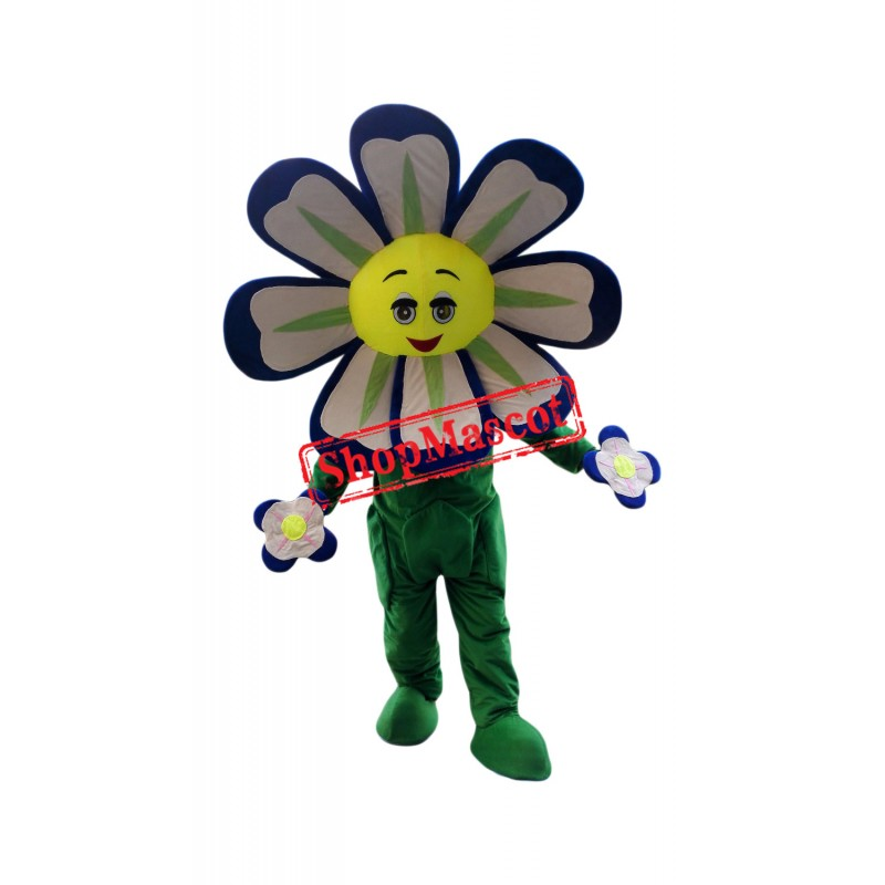 Blue Flower Mascot Costume