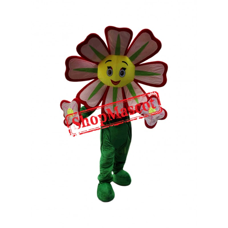 Red Flower Mascot Costume