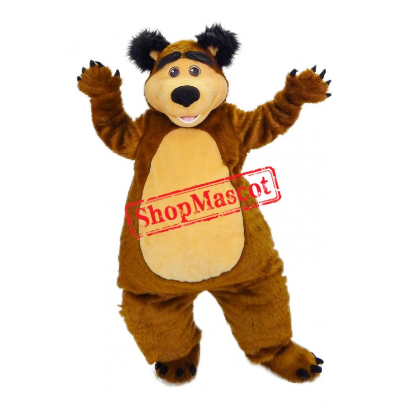 Superb Masha Bear Ursa Grizzly Mascot Costume