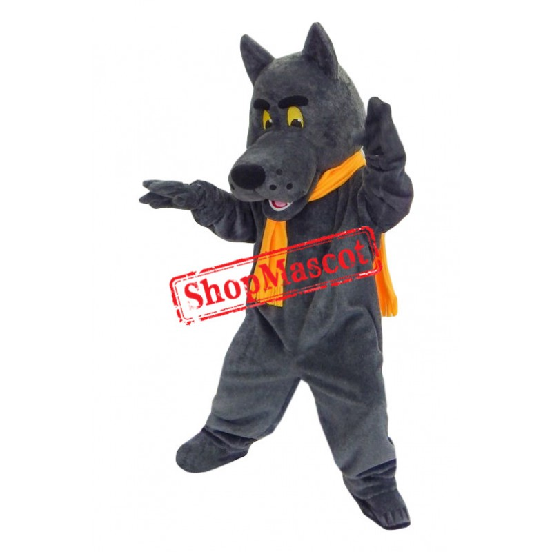 Superb Grey Wolf Mascot Costume