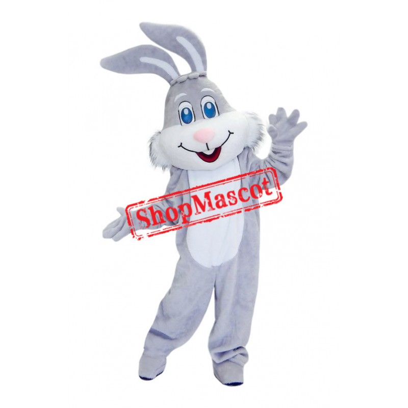 Superb Grey Bunny Mascot Costume