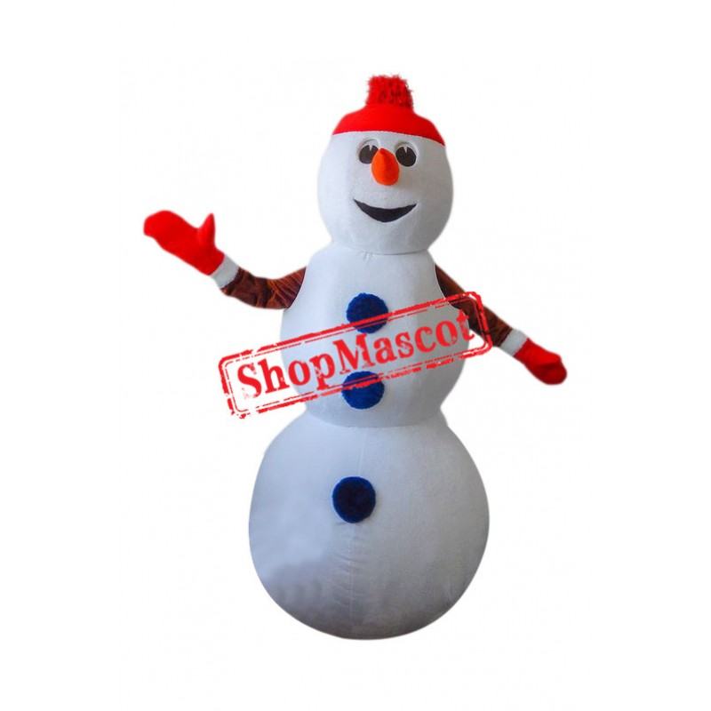 Superb Christmas Snowman Mascot Costume