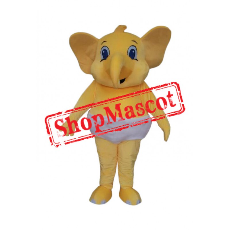 Affordable Little Elephant with Diaper Mascot Costume