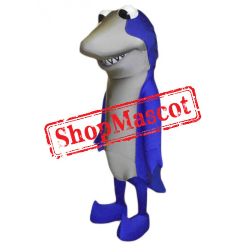 Superb Blue Shark Mascot Costume