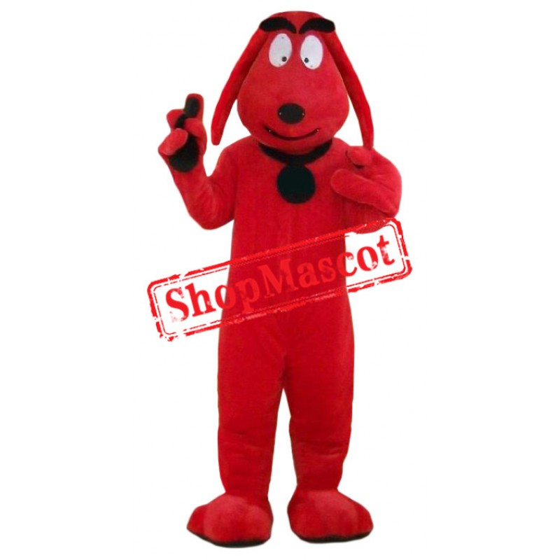 Affordable Red Dog Mascot Costume