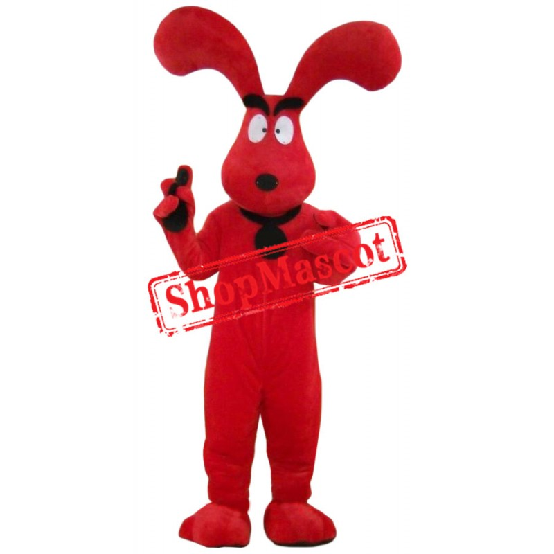 Super Red Dog Mascot Costume
