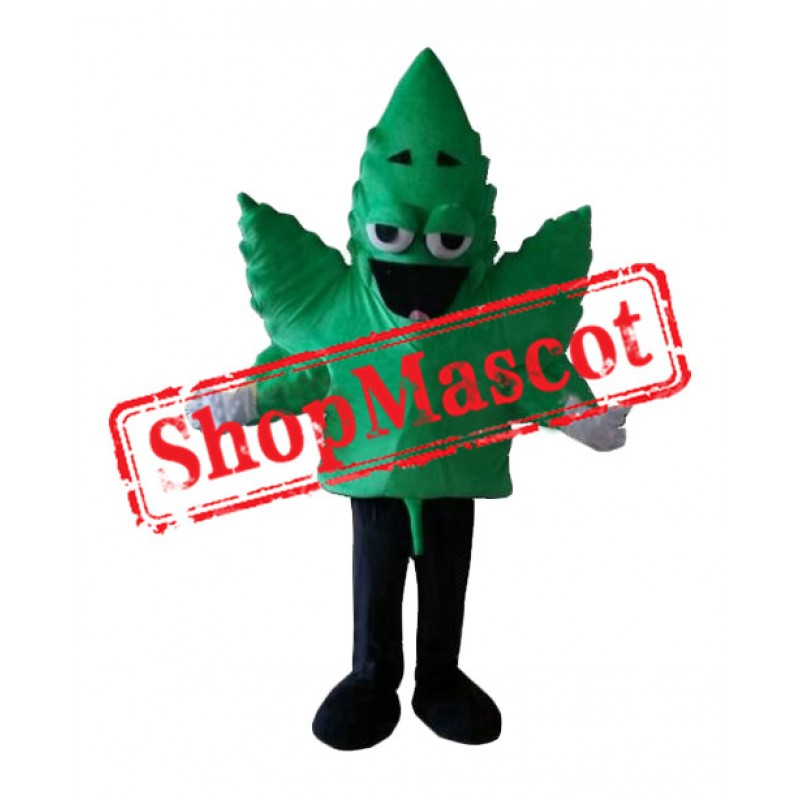 Cannabis Leaf Mascot Costume