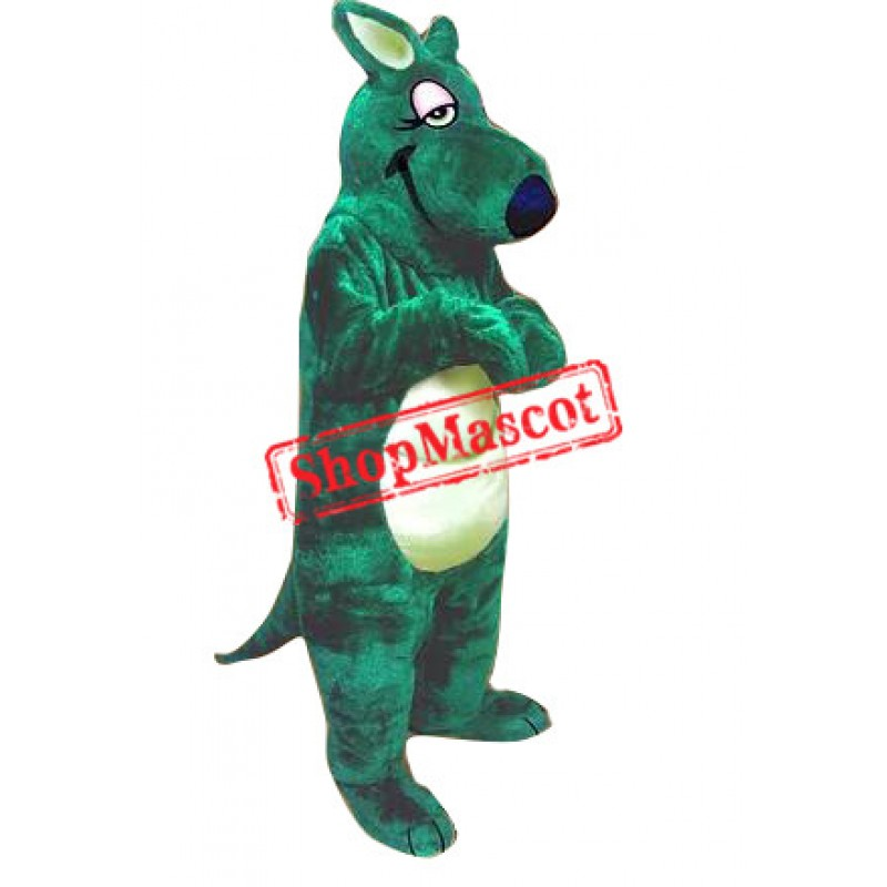 Superb Green Kangaroo Mascot Costume