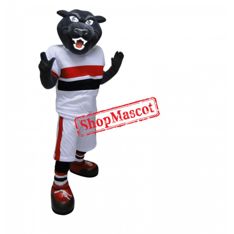 Power Sport Black Panther Mascot Costume