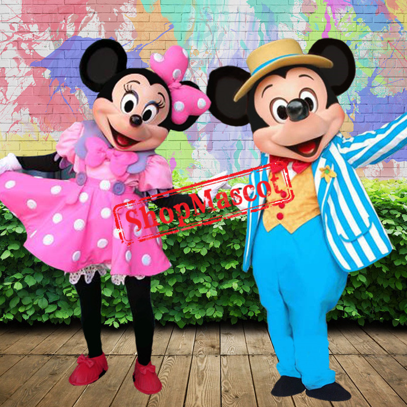 Happy Mickey & Minnie Mascot Costume