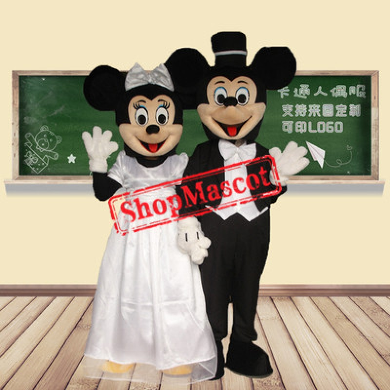 Mickey & Minnie Wedding Mascot Costume