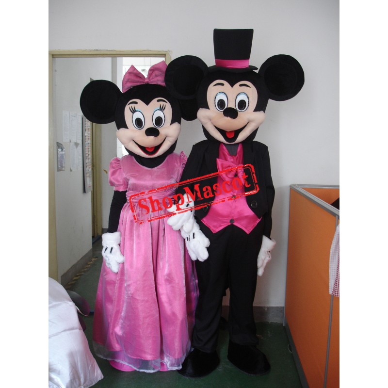 Lovely Mickey & Minnie Wedding Mascot Costume