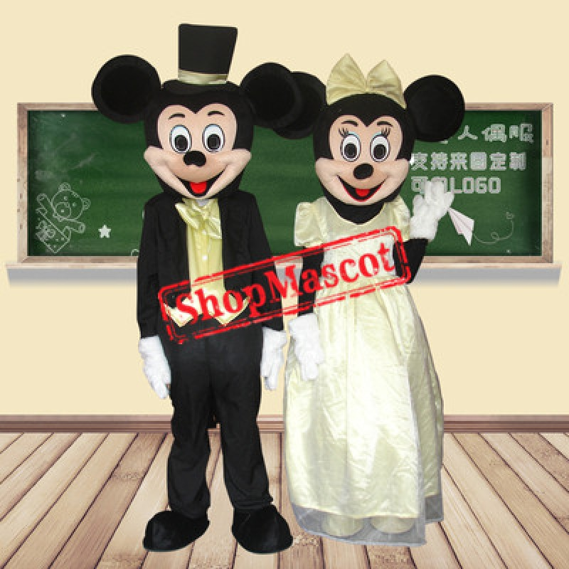 Cute Mickey & Minnie Mascot Costume