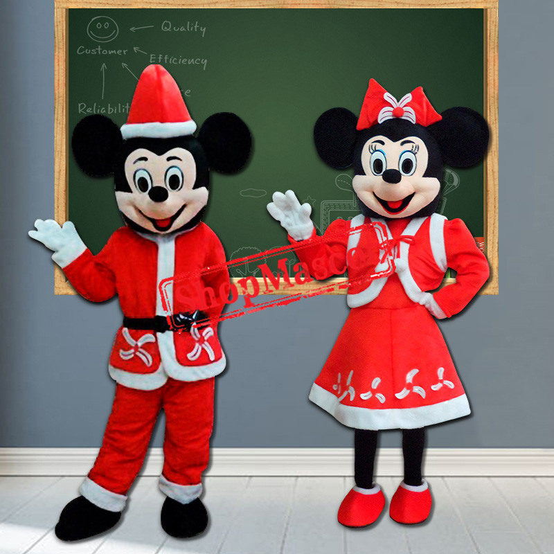 Christmas Mickey & Minnie Mascot Costume