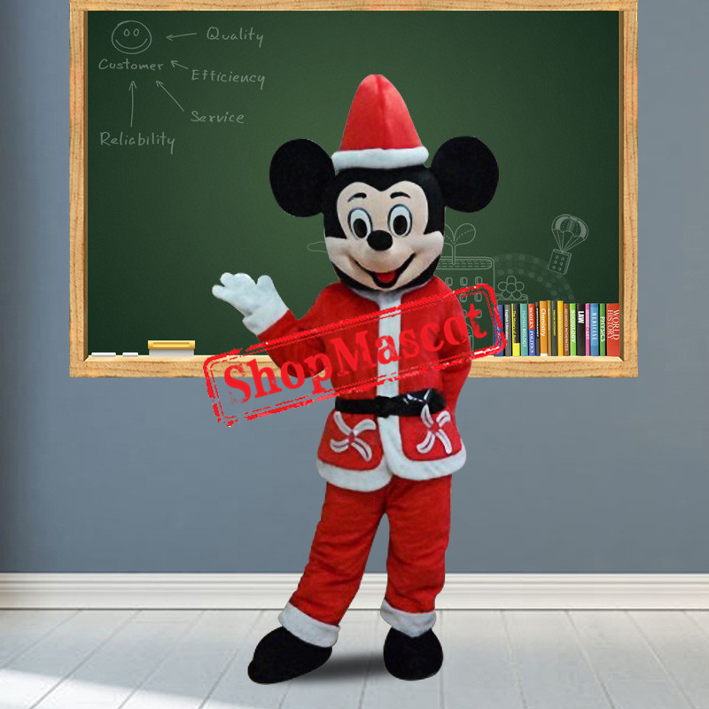 Happy Christmas Mickey Mascot Costume