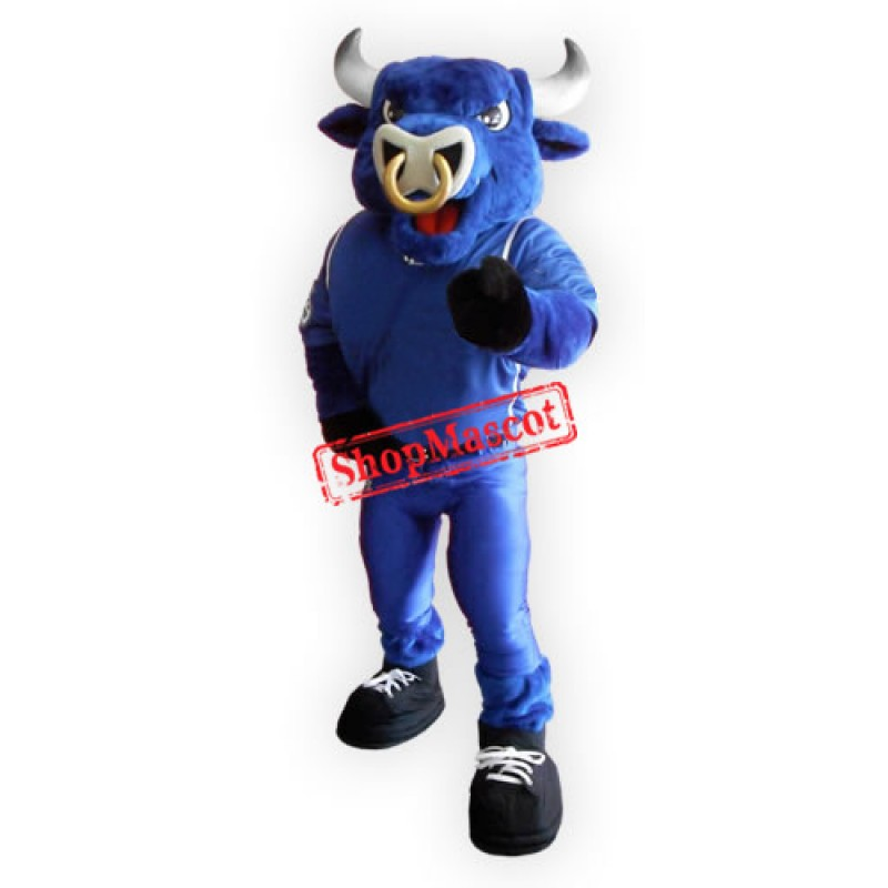 Superb Blue Bull Mascot Costume