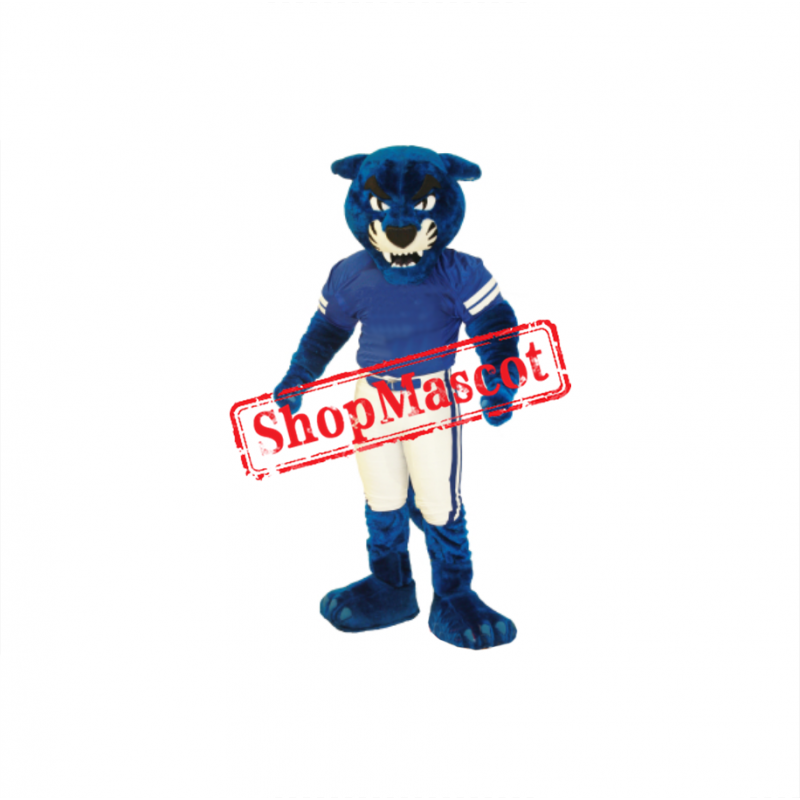 Superb Blue Panther Mascot Costume