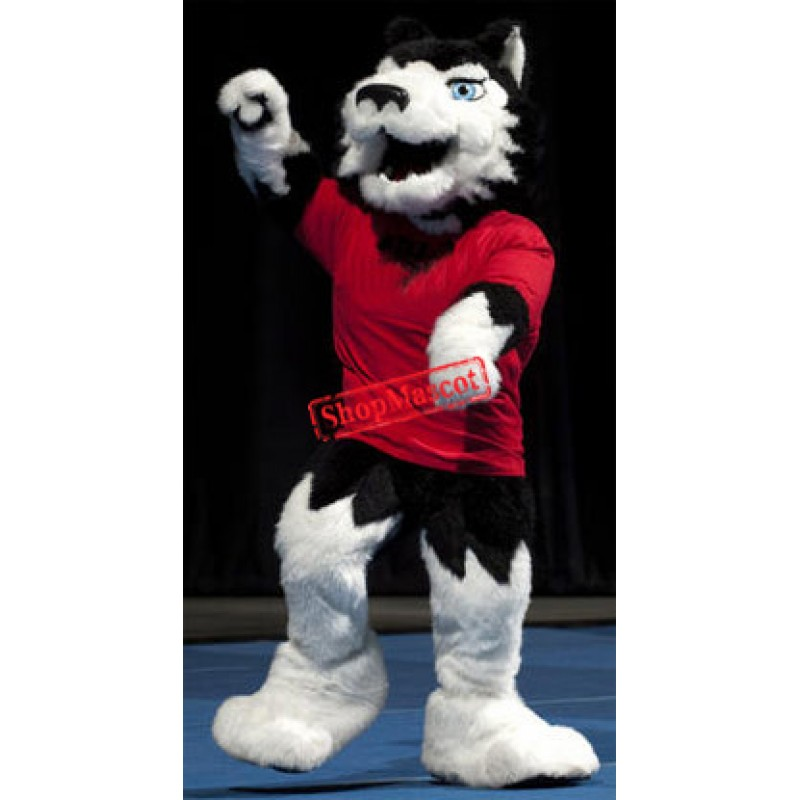 Superb College Wolf Mascot Costume