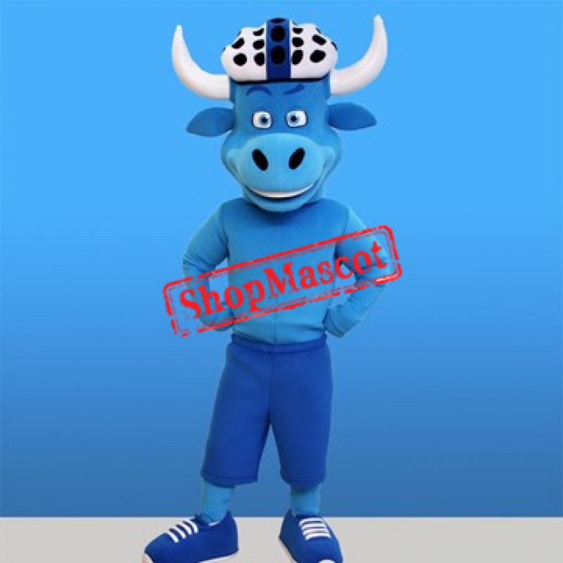 Lovely Blue Bull Mascot Costume