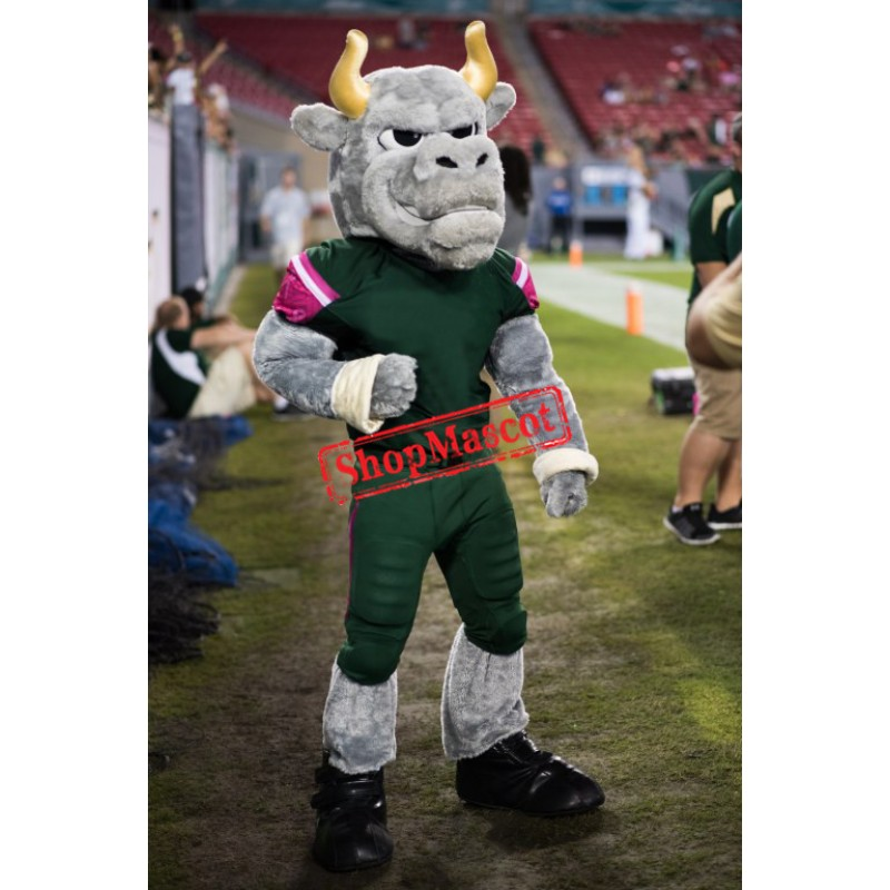 Superb Sport Bull Mascot Costume