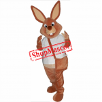 Superb Brown Rabbit Mascot Costume