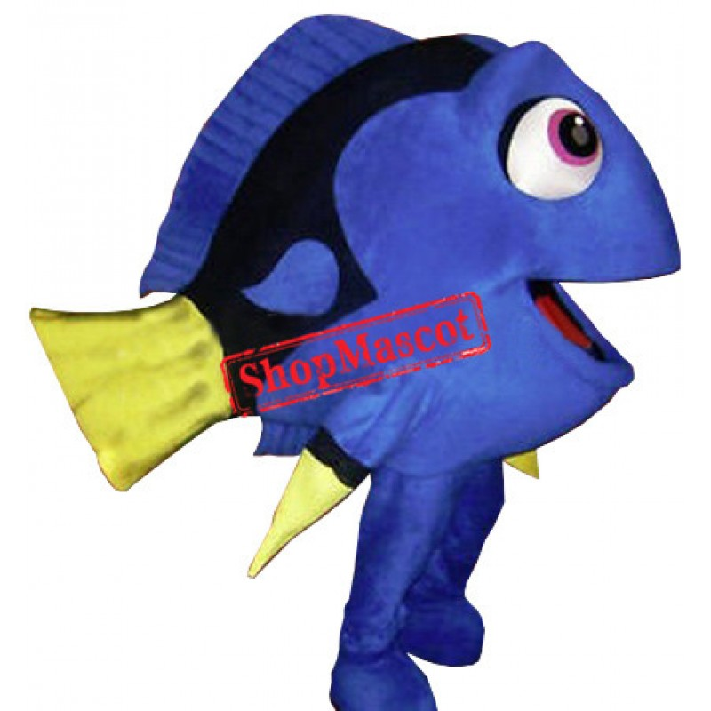 Blue Fish Dory Mascot Costume