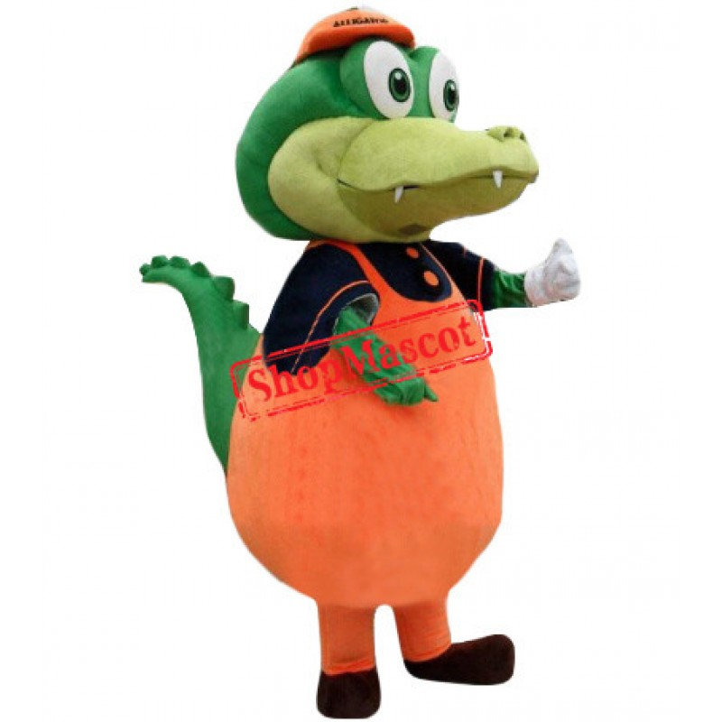 Little Green Dinosaur Mascot Costume