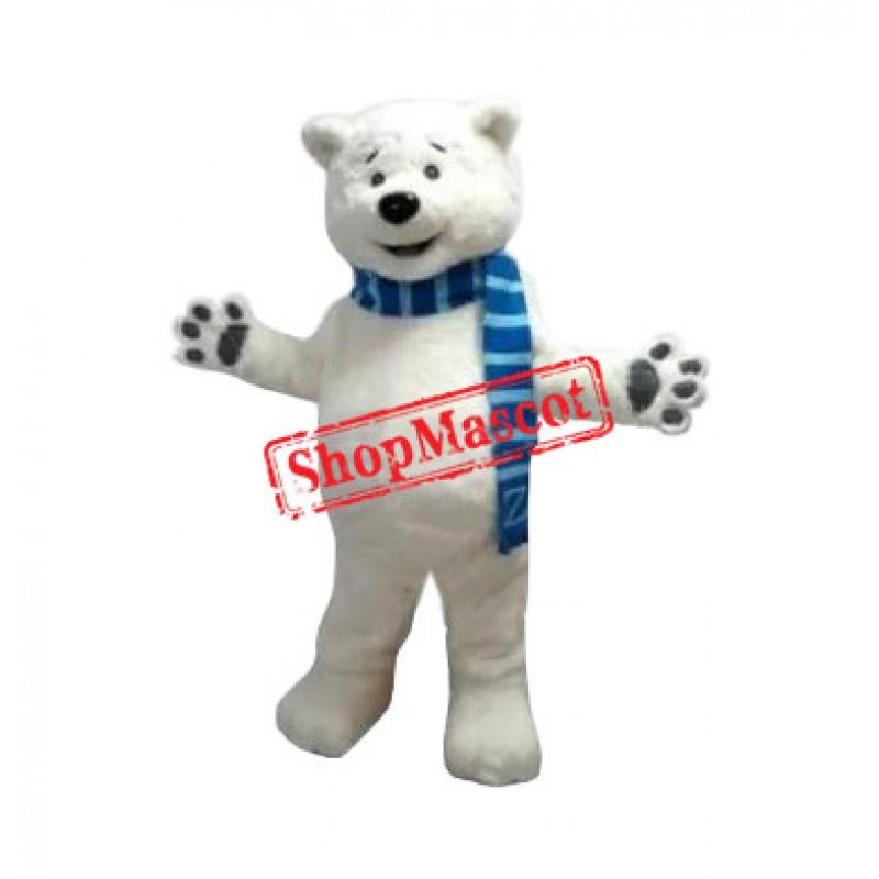 Superb Lightweight Polar Bear Mascot Costume