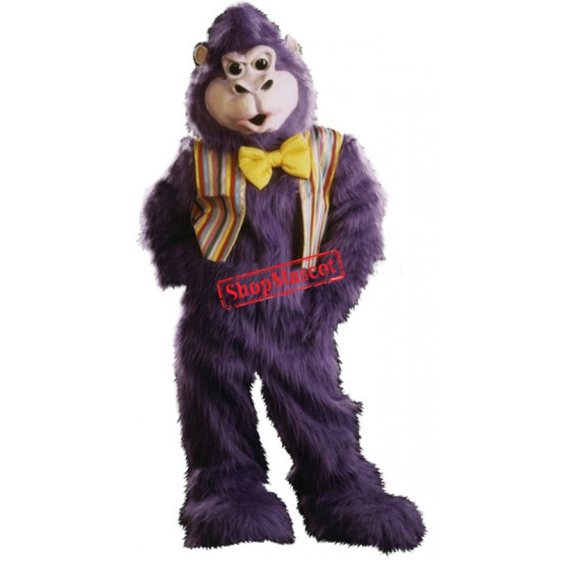 Purple Gorilla Mascot Costume
